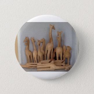 Ocho carvings pinback button