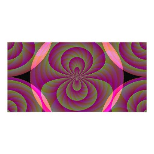 Ocho extraños - Extracto rosado extraño Tarjeta Con Foto Personalizada