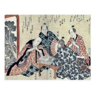 Ocho grandes poetas 2 de Kyoka por Yajima Gogaku Tarjeta Postal