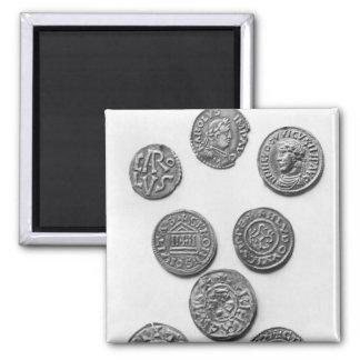 Ocho monedas de Carolingian Imanes De Nevera