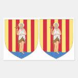 OCHO pegatinas del escudo de armas de Perpignan Rectangular Altavoces