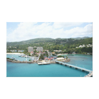 Ocho Rios, impresión de la lona de Jamaica Lona Envuelta Para Galerías