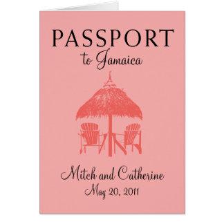 Ocho Rios Jamaica Passport Wedding Invitation Greeting Cards
