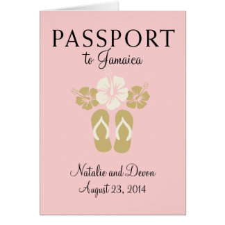 Ocho Rios Jamaica Wedding Passport Card