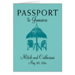 Ocho Rios Jamaica Wedding Passport - Teal Card