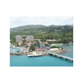 Ocho Rios, lona de Jamaica Impresiones En Lienzo Estiradas