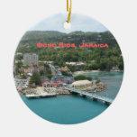 Ocho Rios, ornamento de Jamaica Adorno Navideño Redondo De Cerámica
