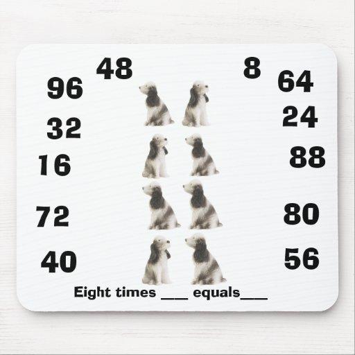 Ocho tablas de las épocas alfombrilla de ratón