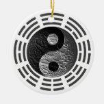 Ocho Trigrams Yin Yang Grabar en relieve-Como drag Ornamento Para Reyes Magos