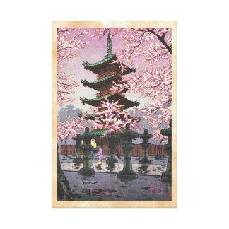 Ocho vistas de la capilla Kasamatsu de Tokio Ueno  Impresión De Lienzo