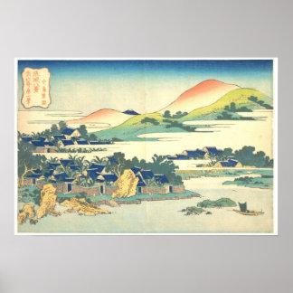 Ocho vistas de Ryukyu: Jardín del plátano en Nakas Posters