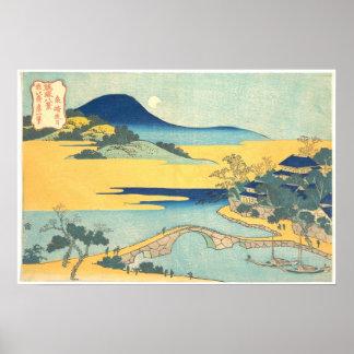 Ocho vistas de Ryukyu: Luna de la tarde en Izumiza Posters