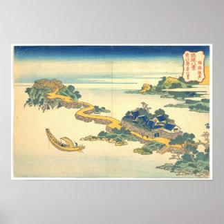 Ocho vistas de Ryukyu: Sonido del lago en Rinkai Posters