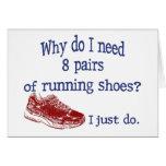 Ocho zapatillas deportivas de los pares felicitación