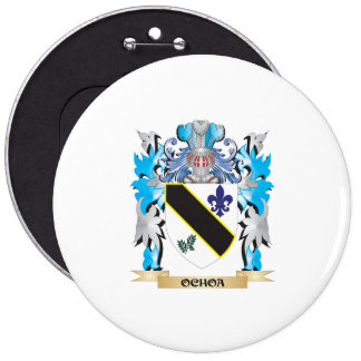 Ochoa Coat of Arms - Family Crest 6 Inch Round Button