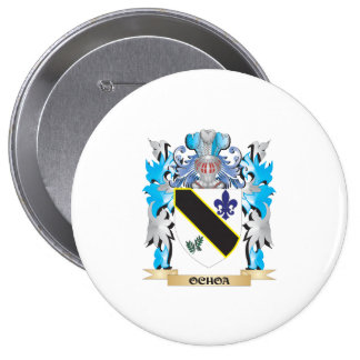 Ochoa Coat of Arms - Family Crest 4 Inch Round Button