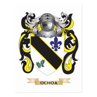 Ochoa Coat of Arms Family Crest Post Card