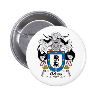 Ochoa Family Crest 2 Inch Round Button