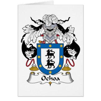Ochoa Family Crest Card