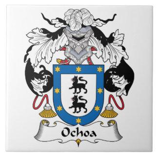 Ochoa Family Crest Ceramic Tile