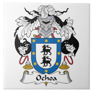 Ochoa Family Crest Large Square Tile