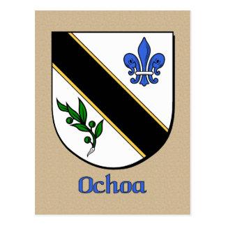 Ochoa Family Heraldic Shield Postcard