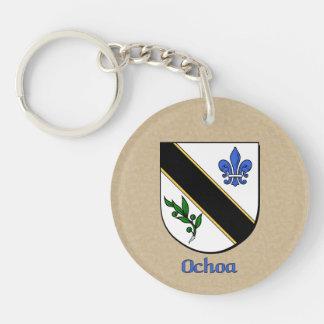 Ochoa Historical Shield and Spanish Flag Keychain