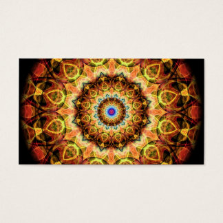 Ochre Burned Glass kaleidoscope Business Card