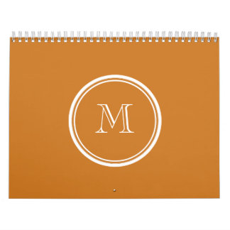 Ochre High End Colored Personalized Calendar
