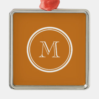 Ochre High End Colored Personalized Metal Ornament