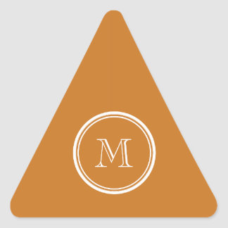 Ochre High End Colored Personalized Triangle Sticker