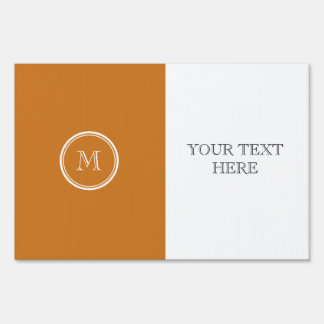 Ochre High End Colored Personalized Sign