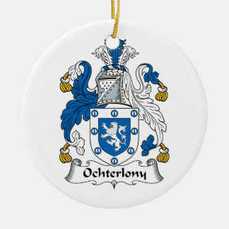 Ochterlony Family Crest Double-Sided Ceramic Round Christmas Ornament