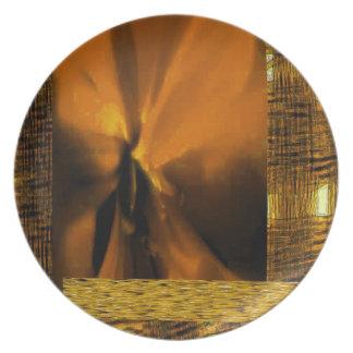 OCHUN ABSTRACT BY AES STAPLE MELAMINE PLATE