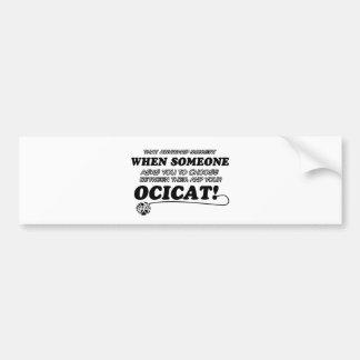 Ocical cat designs bumper sticker