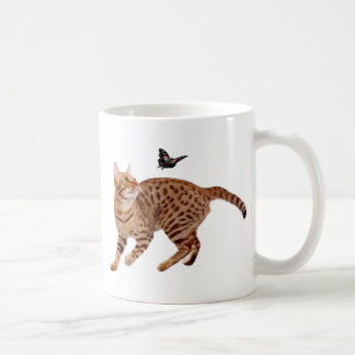 Ocicat Cat & Butterfly Coffee Mug