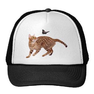 Ocicat Cat & Butterfly Mesh Hat