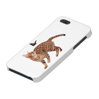 Ocicat Cat & Butterfly iPhone 5 Case