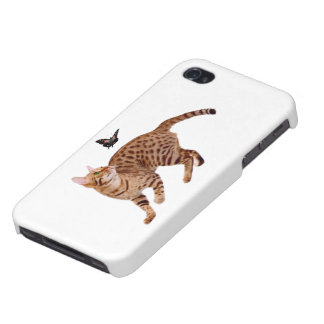 Ocicat Cat & Butterfly iPhone 4/4S Covers