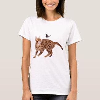 Ocicat Cat & Butterfly T-Shirt
