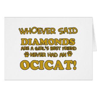 Ocicat Cat designs Greeting Cards