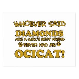 Ocicat Cat designs Postcard