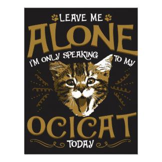 Ocicat Cat Quotes Letterhead