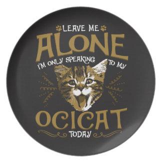 Ocicat Cat Quotes Melamine Plate