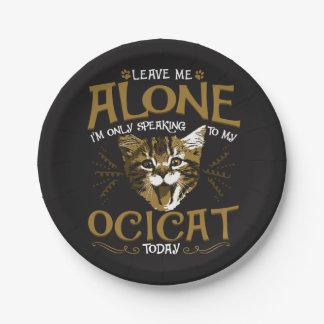 Ocicat Cat Quotes Paper Plate