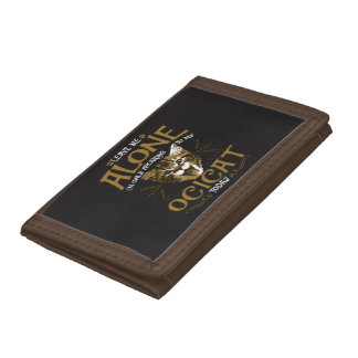 Ocicat Cat Quotes Trifold Wallets