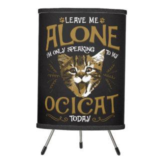 Ocicat Cat Quotes Tripod Lamp