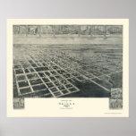 Ocilla, mapa panorámico del GA - 1908 Impresiones