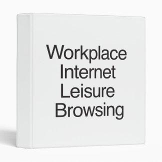 Ocio del Internet del lugar de trabajo que hojea