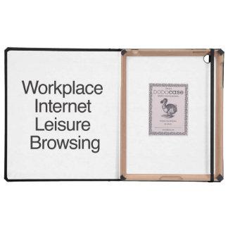 Ocio del Internet del lugar de trabajo que hojea iPad Coberturas